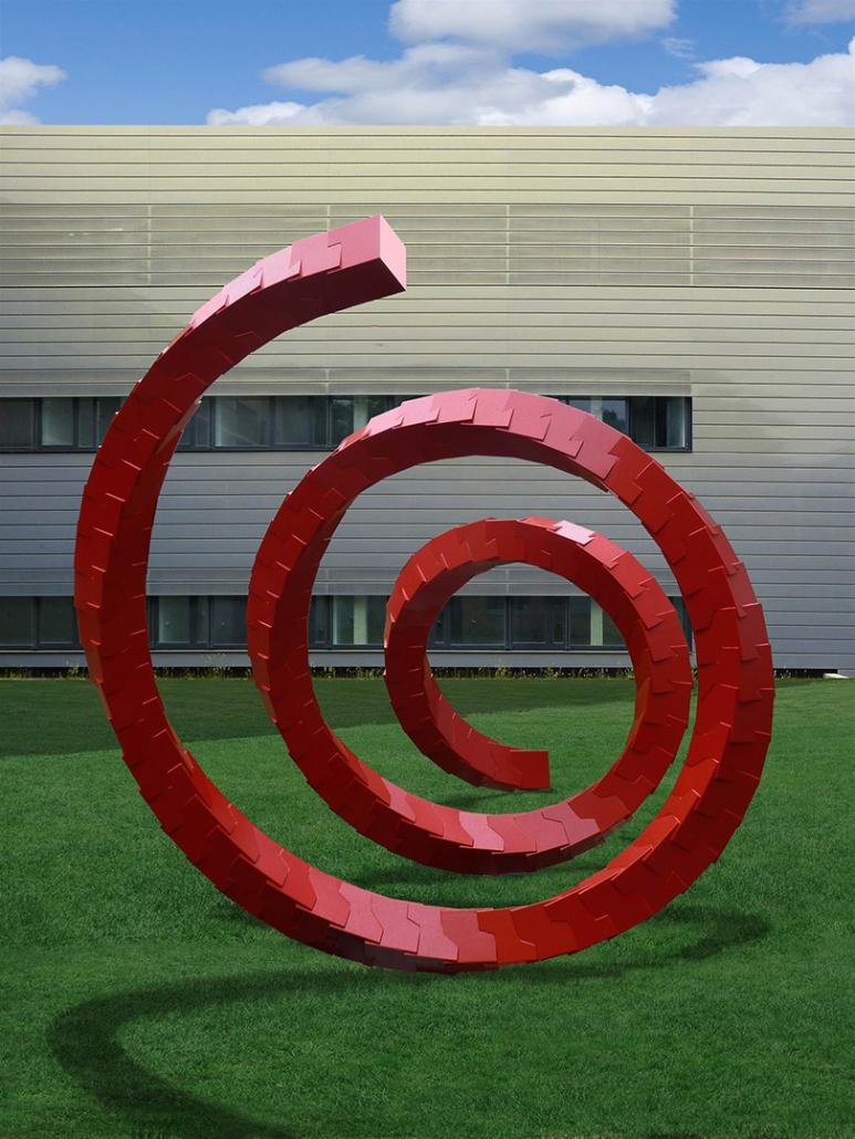 Hahner Kunst und Design – Cube Spiral Jülich vorne