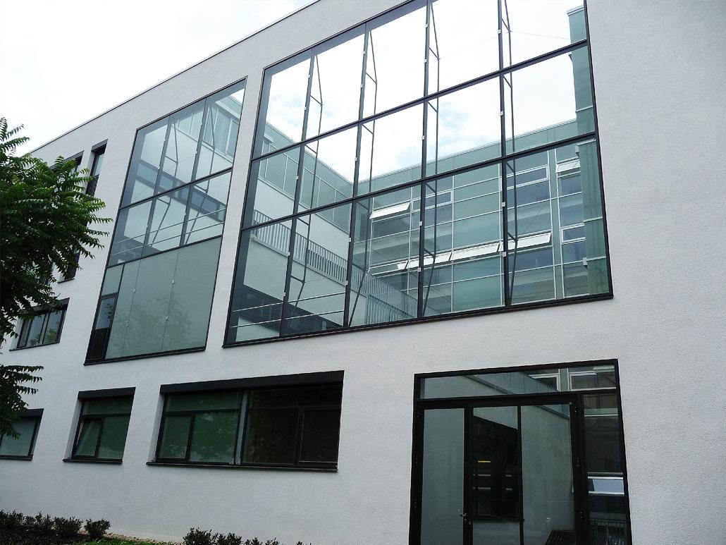 Hahner Stahlbau – Klinikum Darmstadt beheizte Fassade