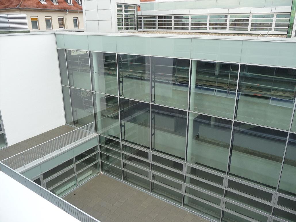 Hahner Stahlbau – Klinikum Darmstadt Glasfassade