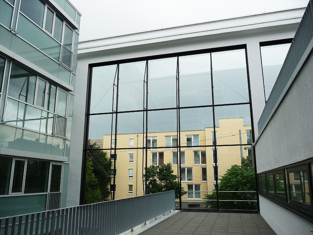Hahner Stahlbau – Klinikum Darmstadt Terrasse