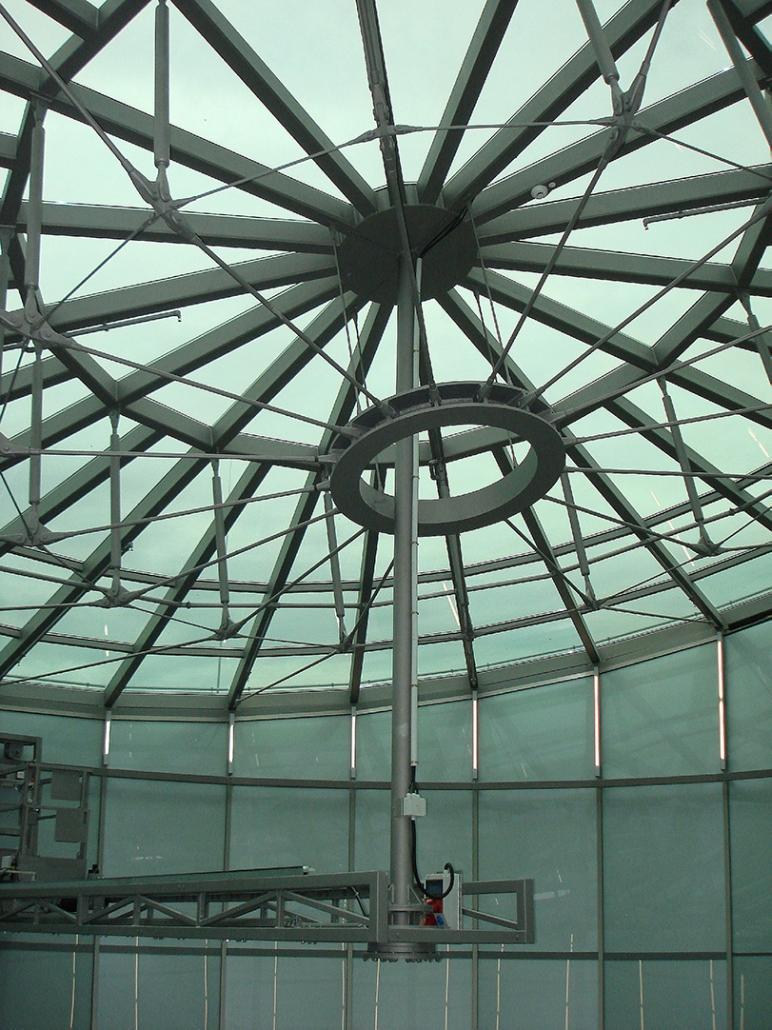 Hahner Stahlbau – Rotunden aus Stahl und Glas einfarbig Zentrum