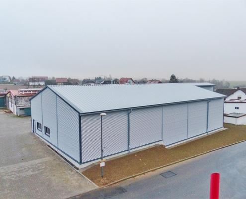 Hallenbau Sauer Halle fertiggestellt – Hahner Technik