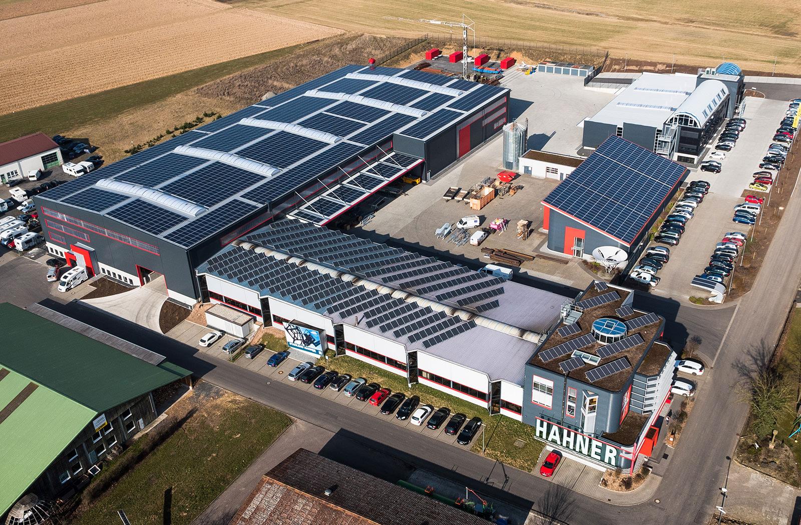 Hahner Technik – Luftaufnahme Betriebsgelände Stahlbau und Texmer in Fulda